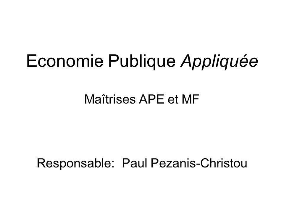 Economie Publique Appliquée