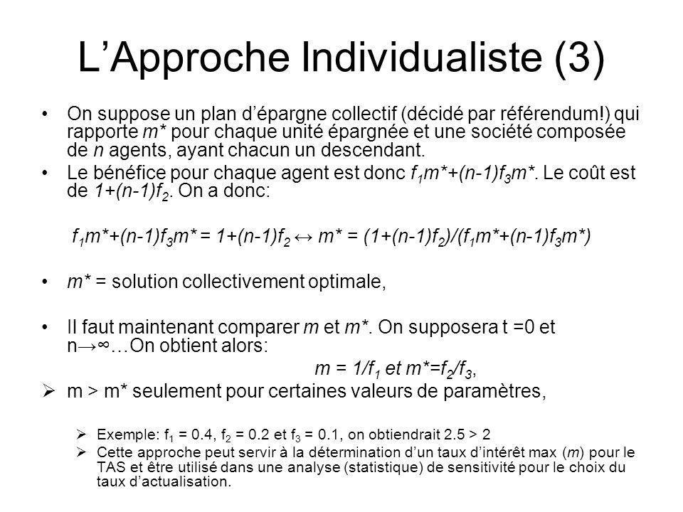 L'Approche Individualiste (3)