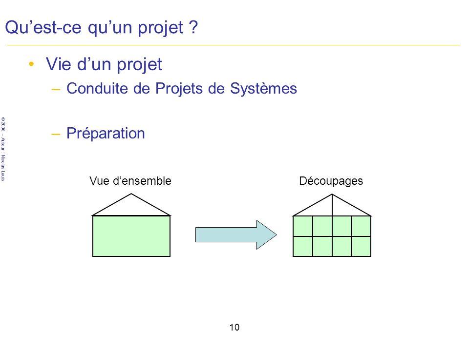 Qu'est-ce qu'un projet