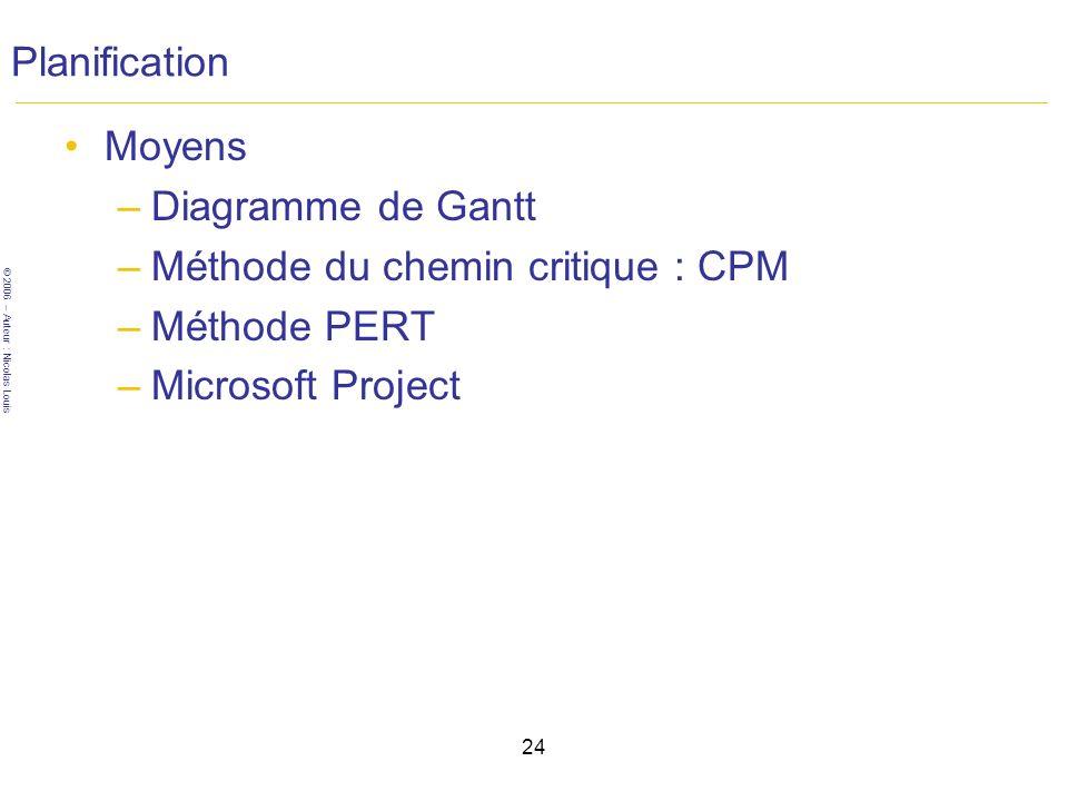 Méthode du chemin critique : CPM Méthode PERT Microsoft Project