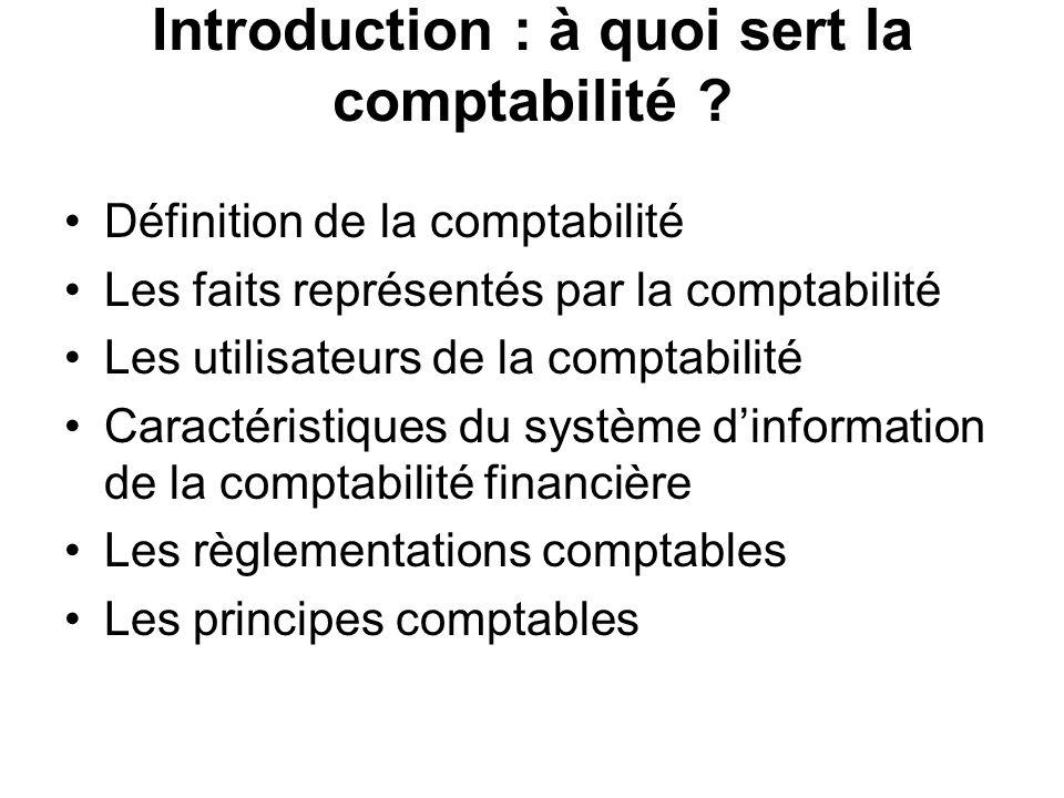 Introduction : à quoi sert la comptabilité