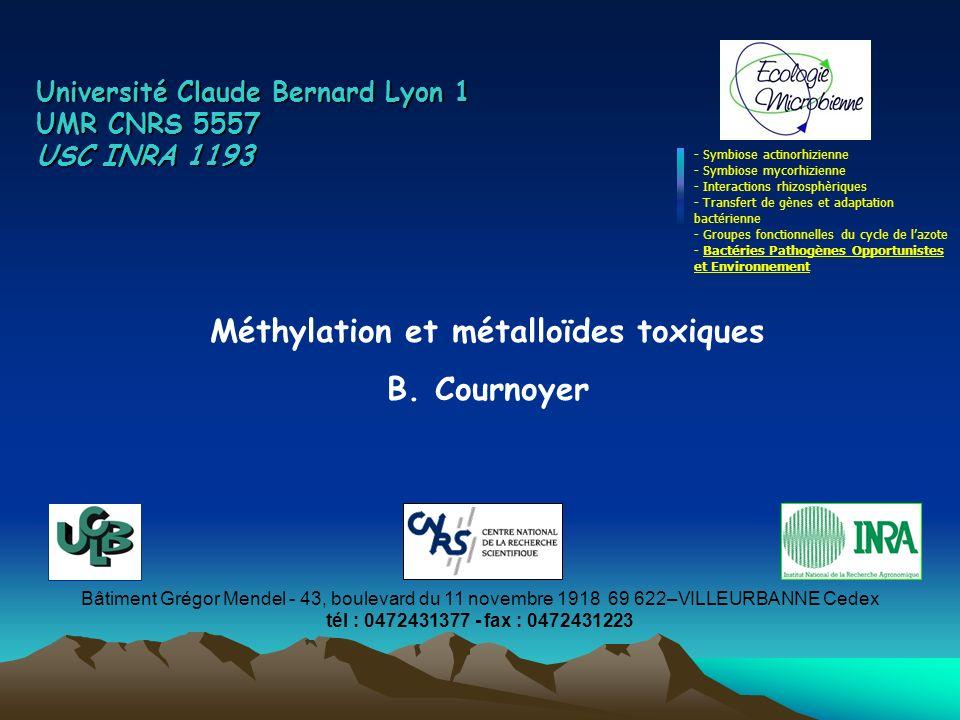 Méthylation et métalloïdes toxiques
