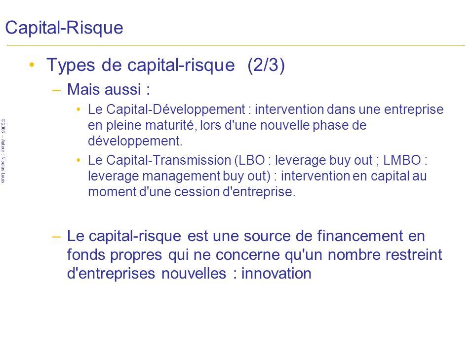 Types de capital-risque (2/3)