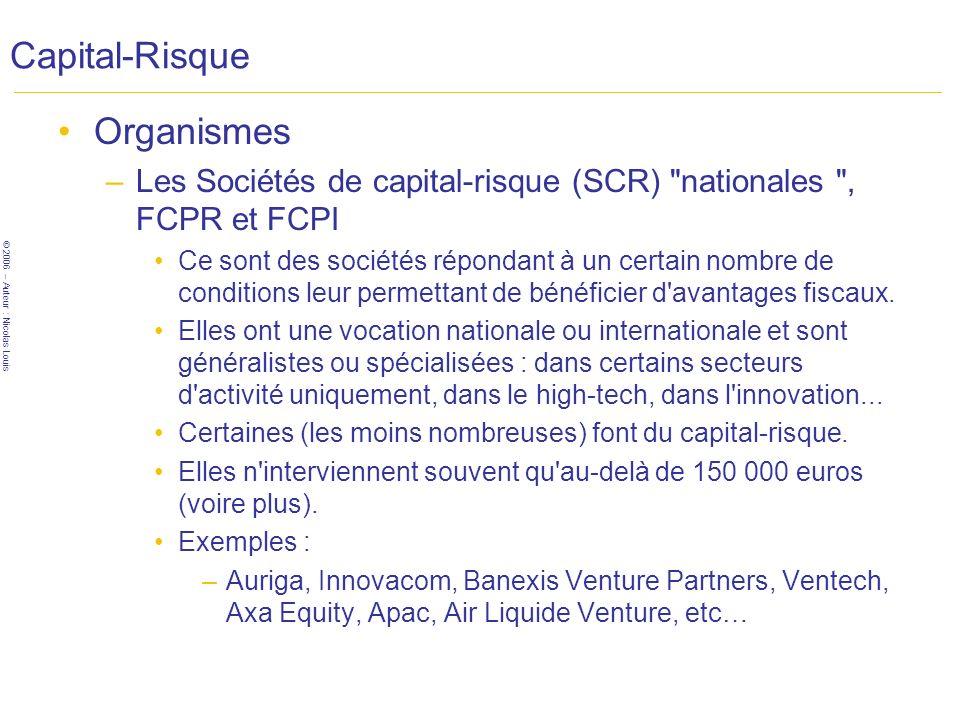 Capital-Risque Organismes