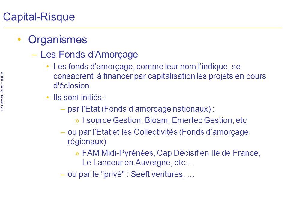 Capital-Risque Organismes Les Fonds d Amorçage
