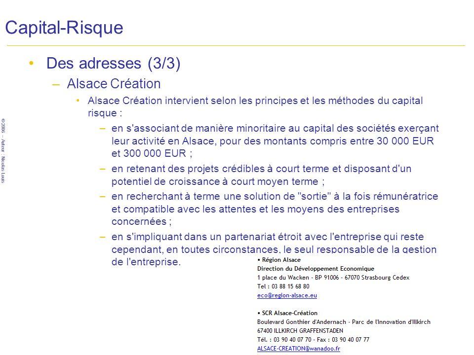 Capital-Risque Des adresses (3/3) Alsace Création