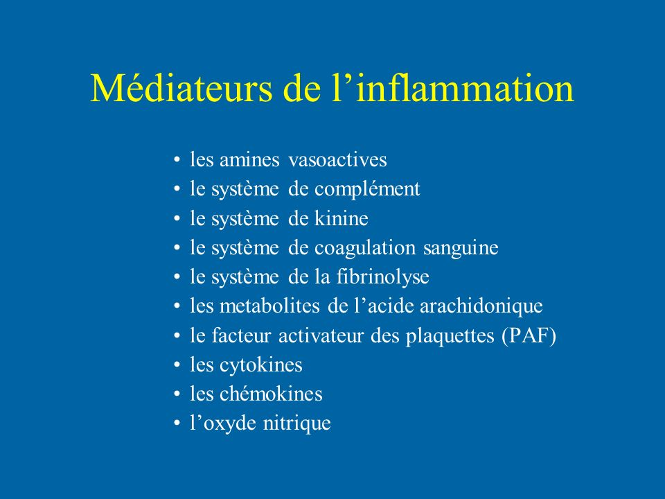 Médiateurs de l'inflammation
