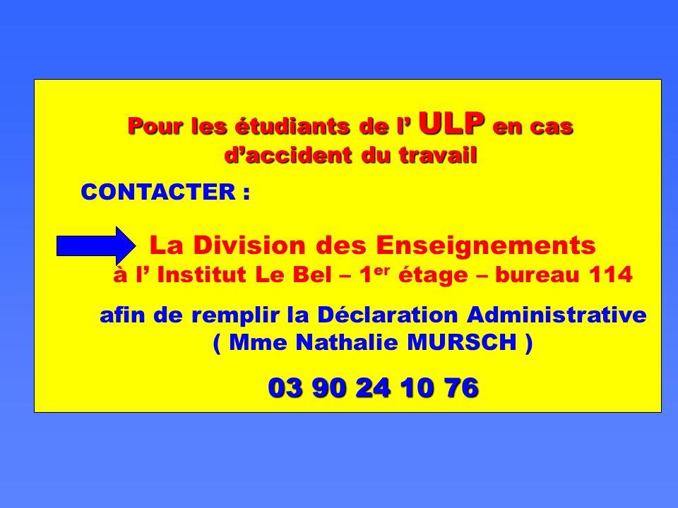 afin de remplir la Déclaration Administrative ( Mme Nathalie MURSCH )