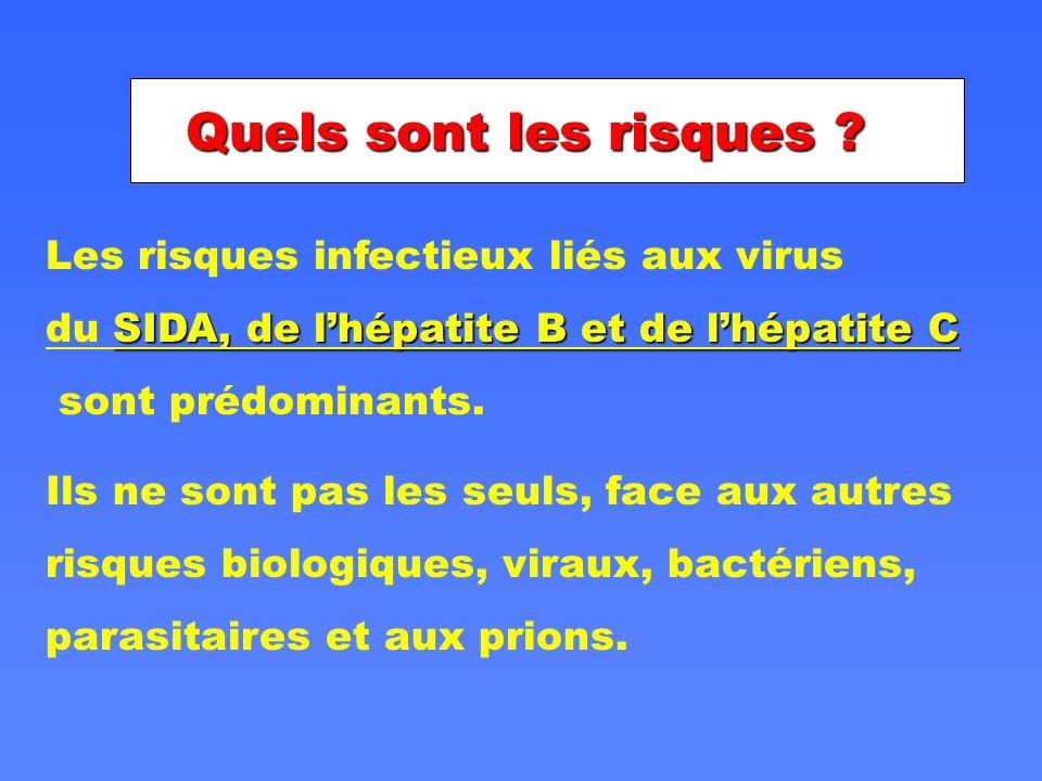 Quels sont les risques Les risques infectieux liés aux virus