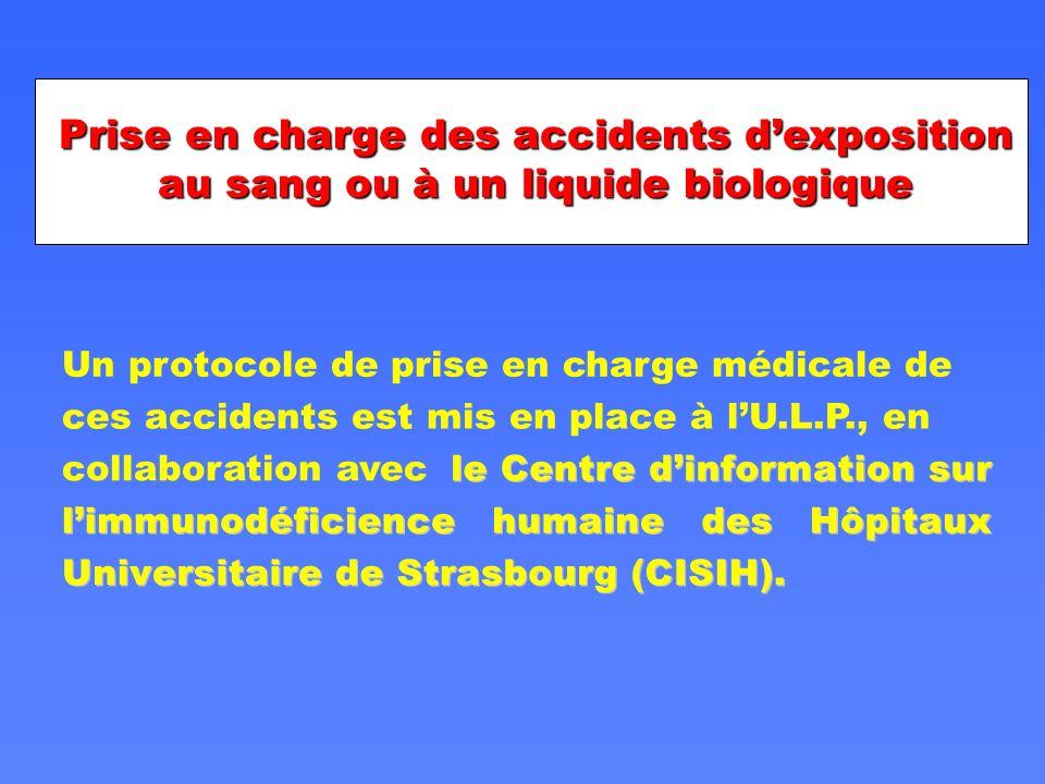 Prise en charge des accidents d'exposition au sang ou à un liquide biologique
