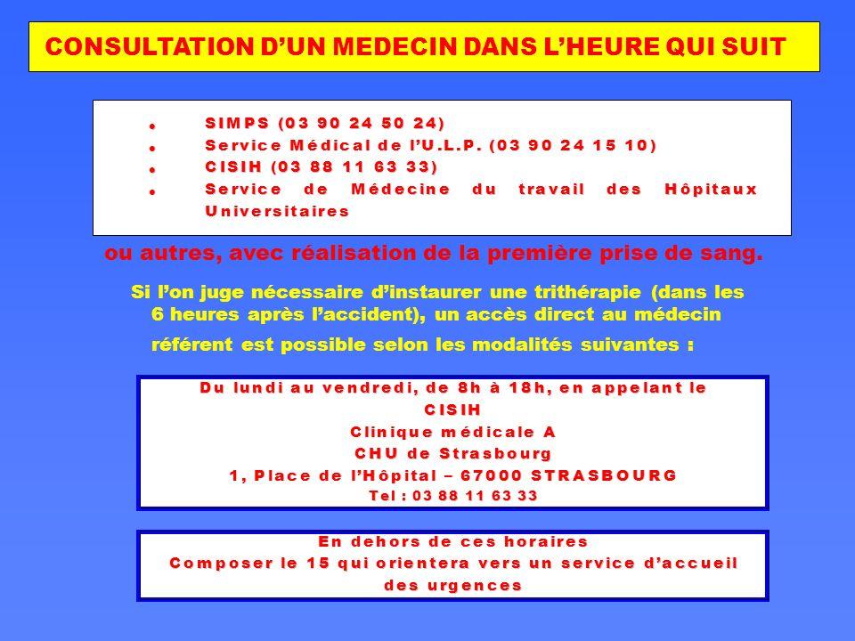 CONSULTATION D'UN MEDECIN DANS L'HEURE QUI SUIT