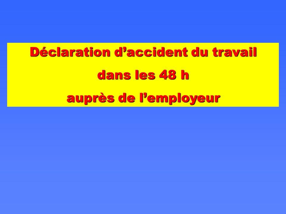 Déclaration d'accident du travail