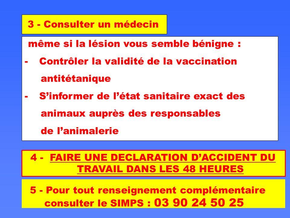 4 - FAIRE UNE DECLARATION D'ACCIDENT DU TRAVAIL DANS LES 48 HEURES