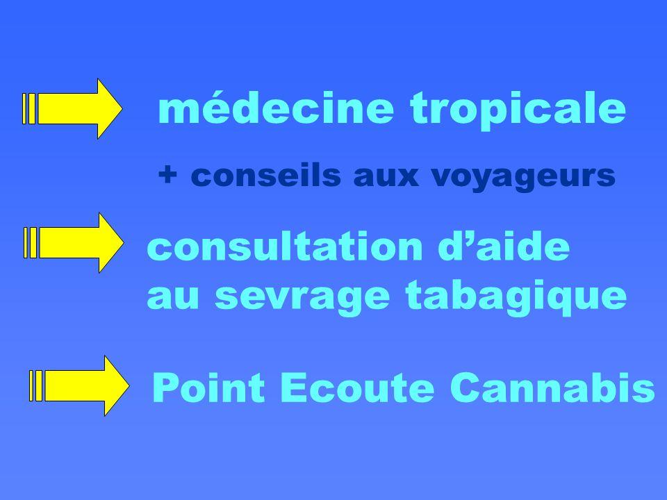 médecine tropicale consultation d'aide au sevrage tabagique