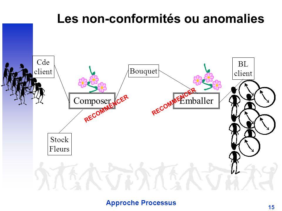 Les non-conformités ou anomalies