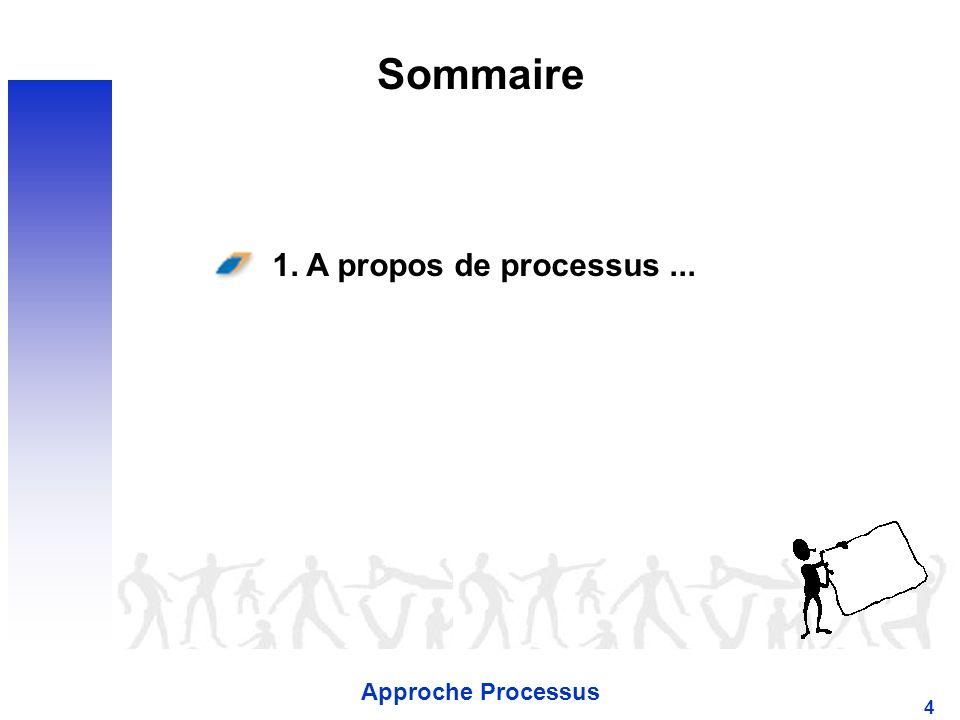 Sommaire 1. A propos de processus ... Approche Processus