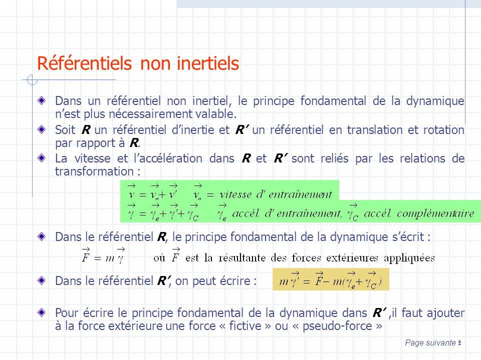 Référentiels non inertiels
