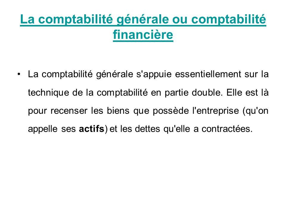 La comptabilité générale ou comptabilité financière