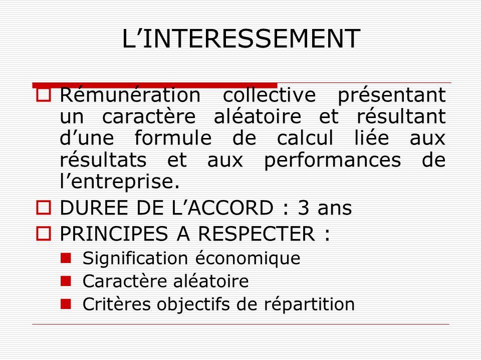 L'INTERESSEMENT