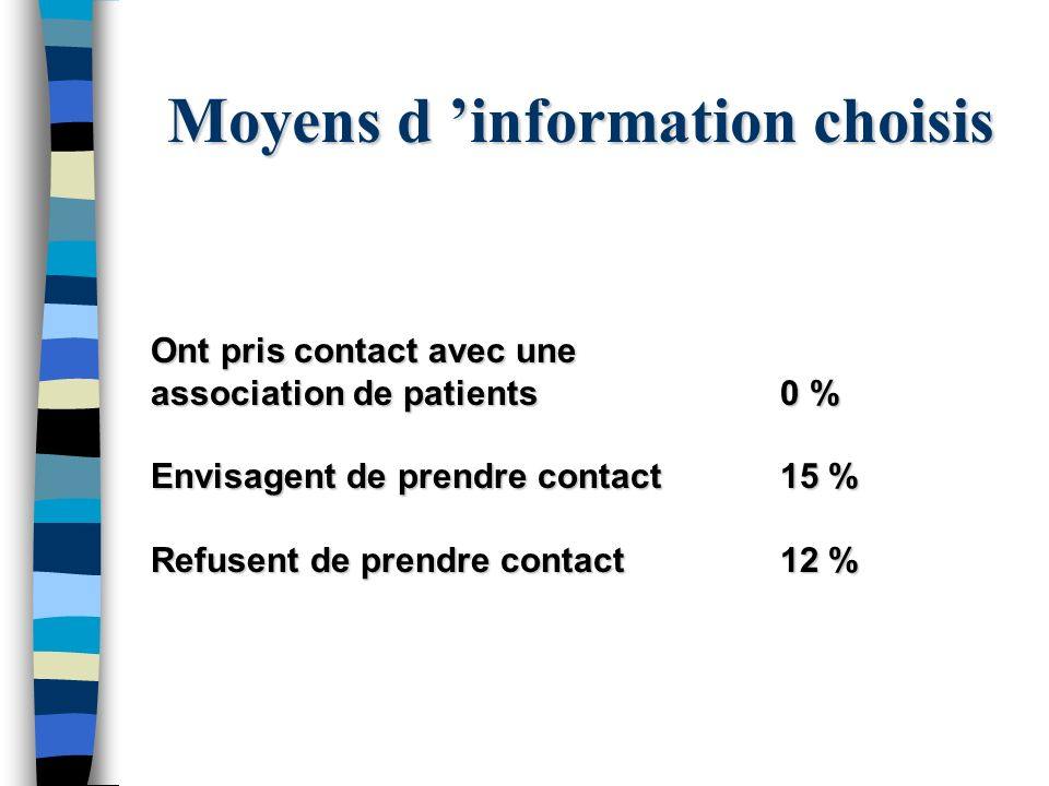 Moyens d 'information choisis