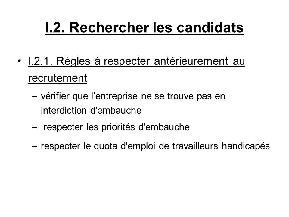I.2. Rechercher les candidats