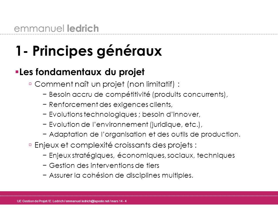1- Principes généraux Les fondamentaux du projet