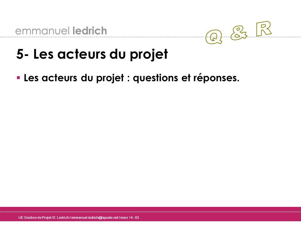 Les acteurs du projet : questions et réponses.