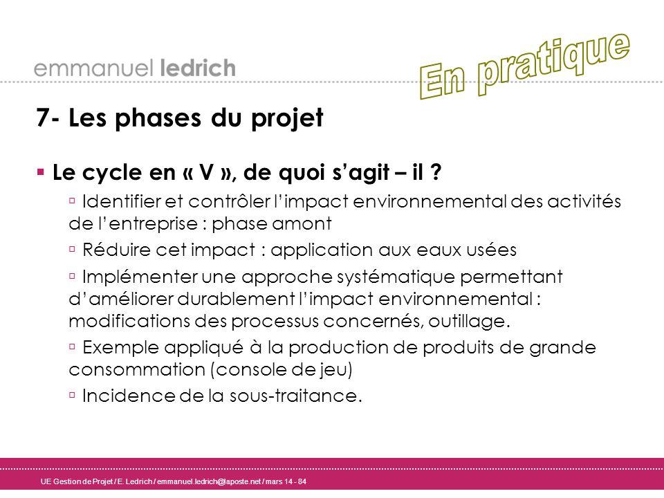 En pratique 7- Les phases du projet