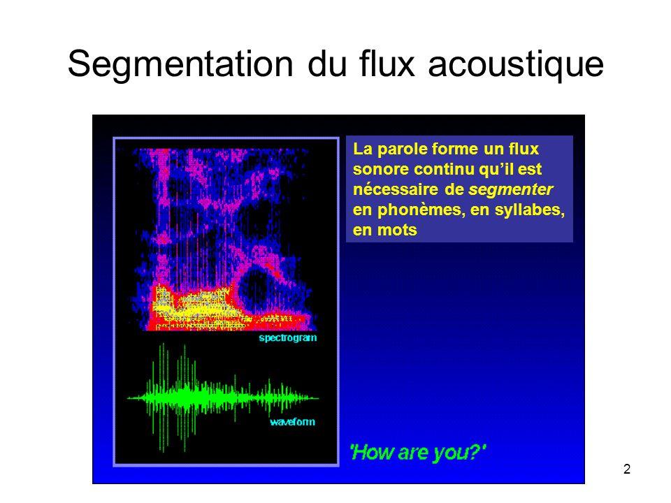 Segmentation du flux acoustique