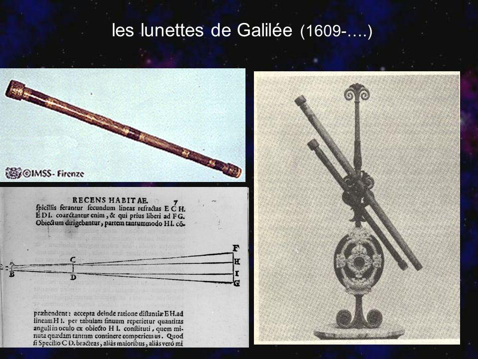 les lunettes de Galilée (1609-….)