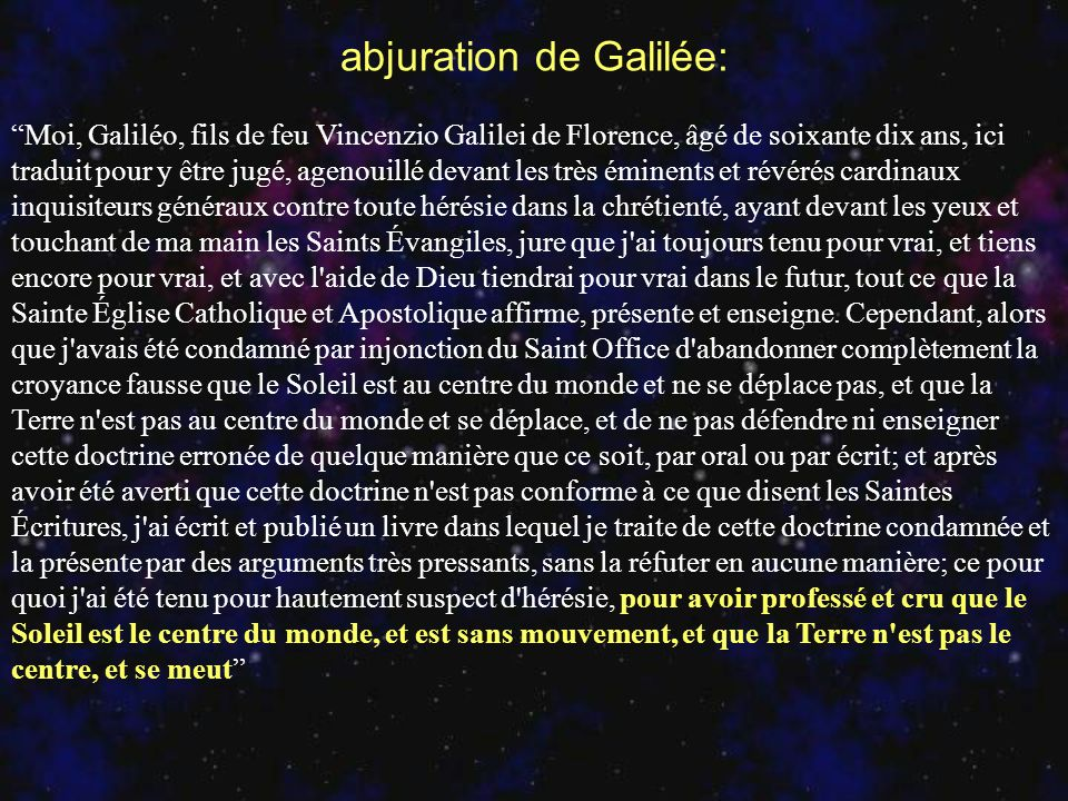 abjuration de Galilée: