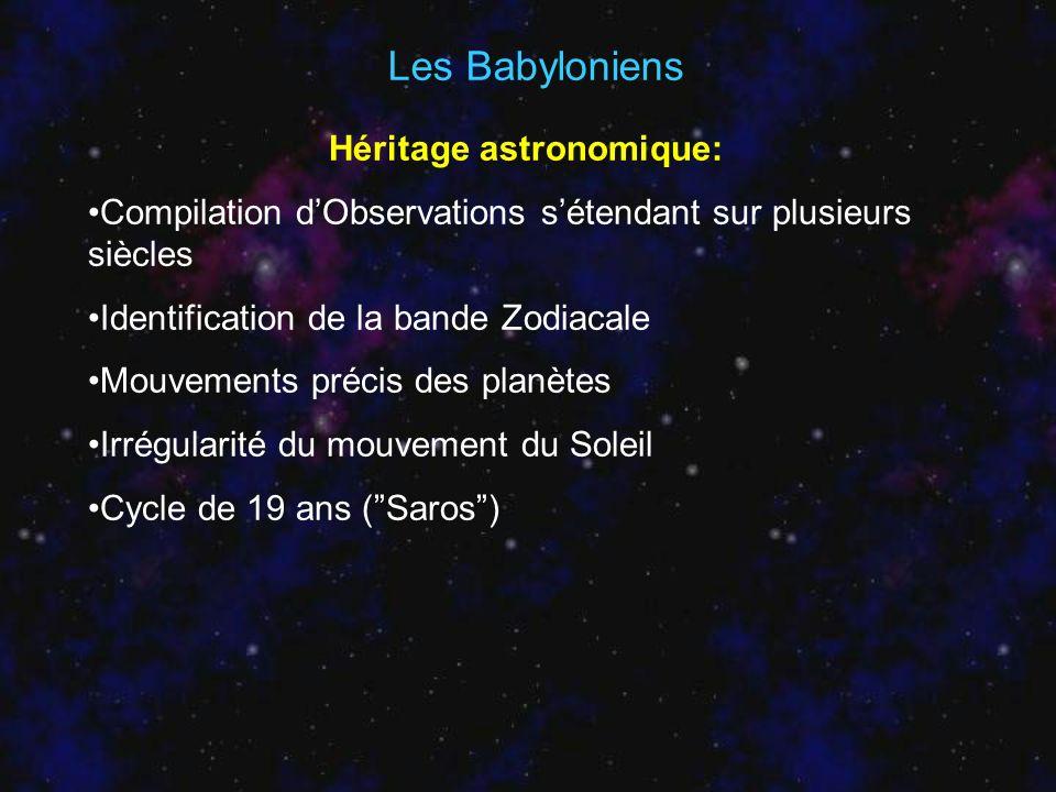 Héritage astronomique:
