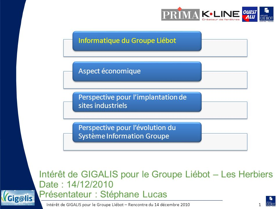 Intérêt de GIGALIS pour le Groupe Liébot – Les Herbiers