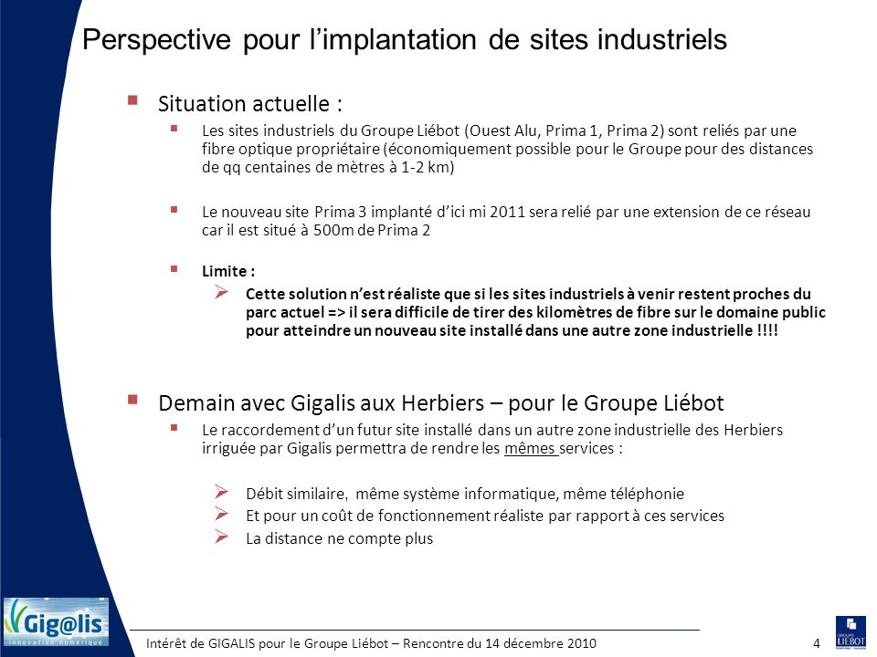 Perspective pour l'implantation de sites industriels