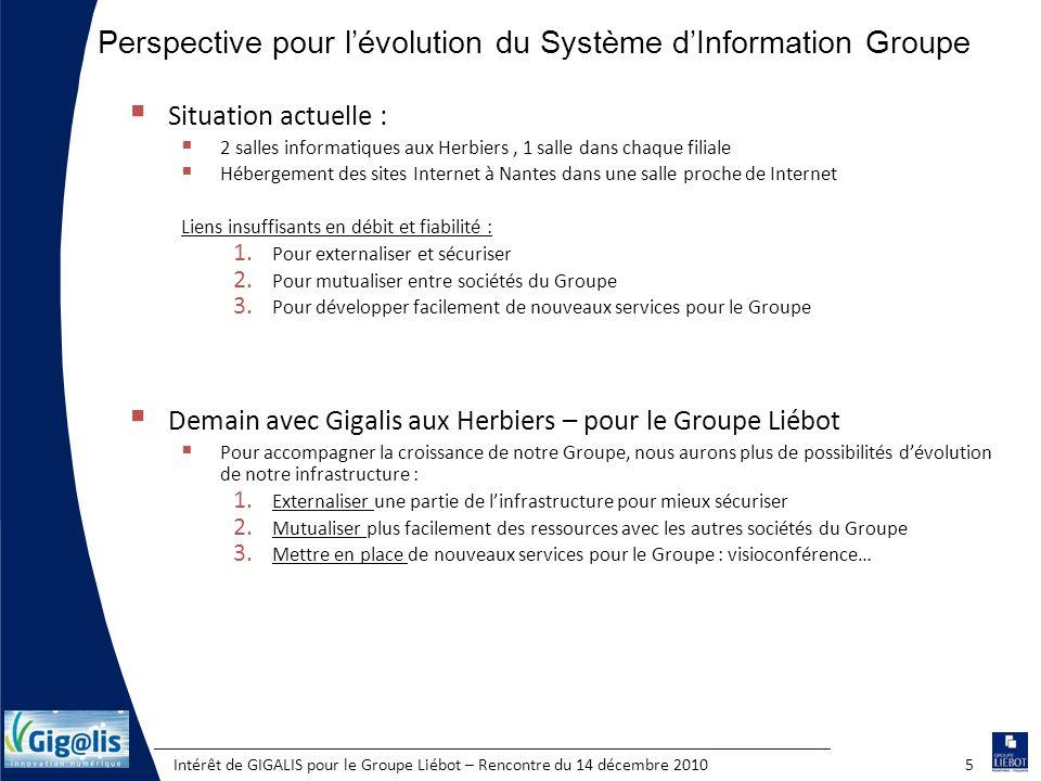 Perspective pour l'évolution du Système d'Information Groupe