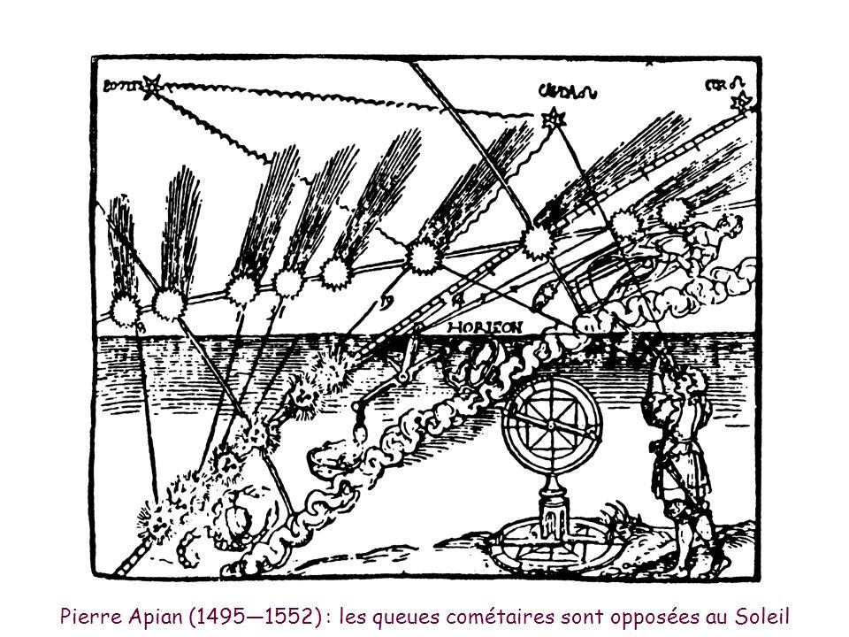 Petrus Apianus - la queue de la comète est opposée au Soleil