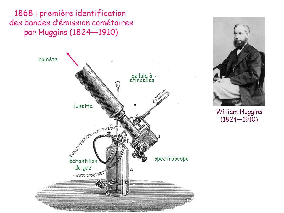 1868 : première identification des bandes d'émission cométaires