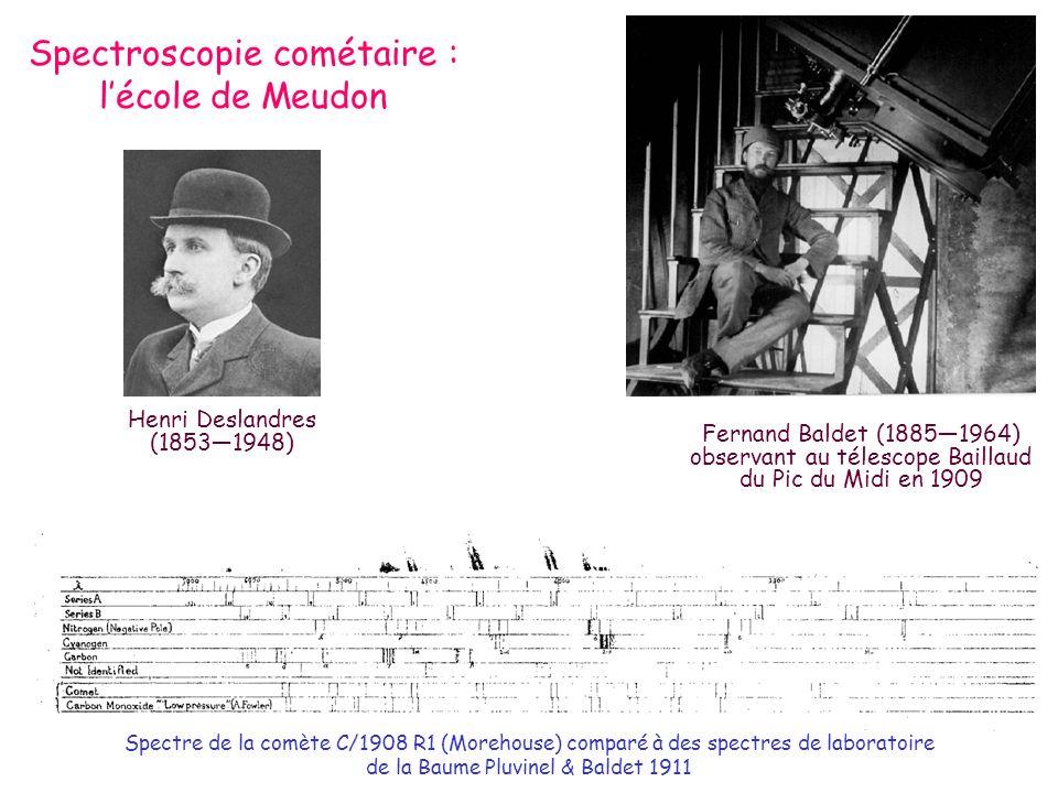 Spectroscopie cométaire : l'école de Meudon