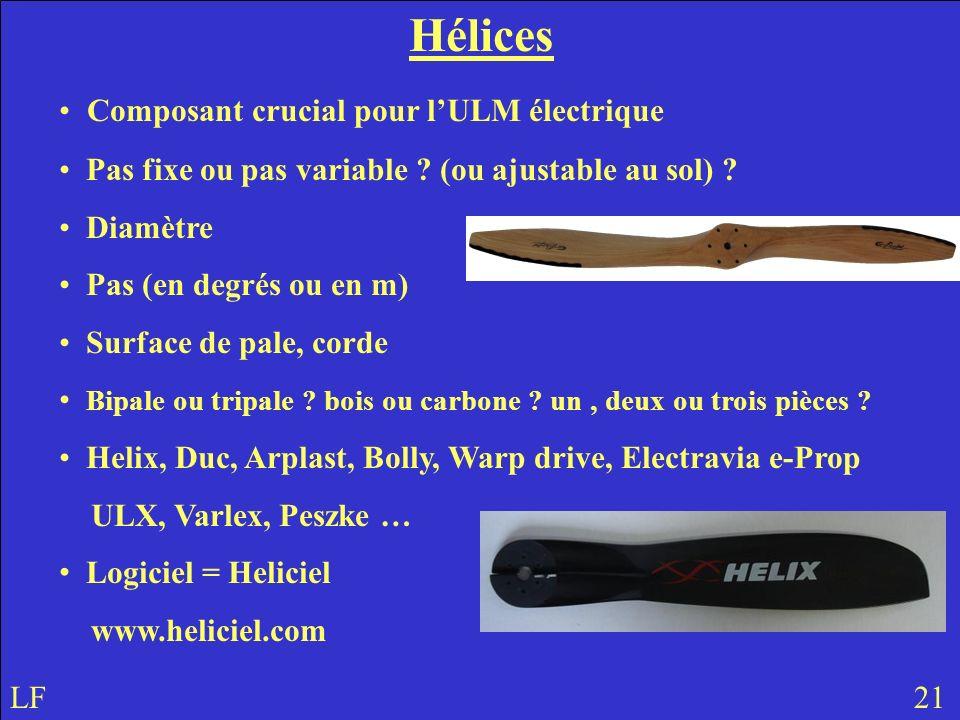Hélices Composant crucial pour l'ULM électrique