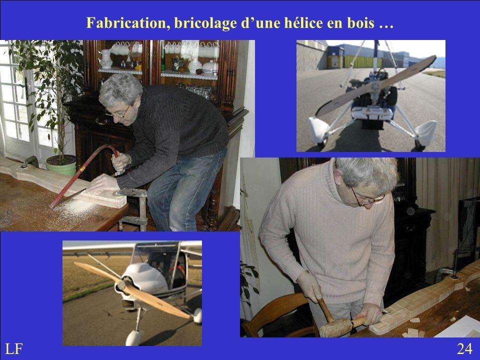 Fabrication, bricolage d'une hélice en bois …