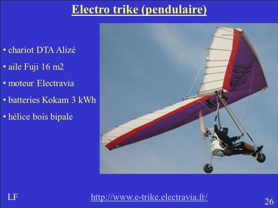 Electro trike (pendulaire)