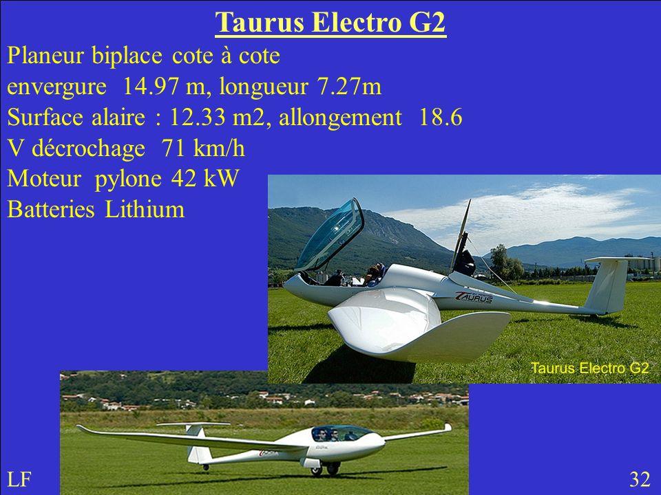 Taurus Electro G2 Planeur biplace cote à cote