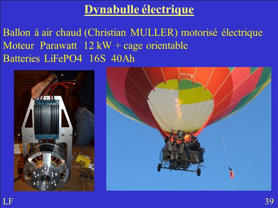 Dynabulle électrique Ballon à air chaud (Christian MULLER) motorisé électrique Moteur Parawatt 12 kW + cage orientable.