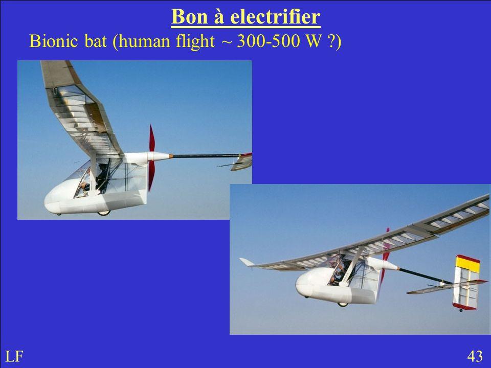 Bon à electrifier Bionic bat (human flight ~ 300-500 W ) LF 43