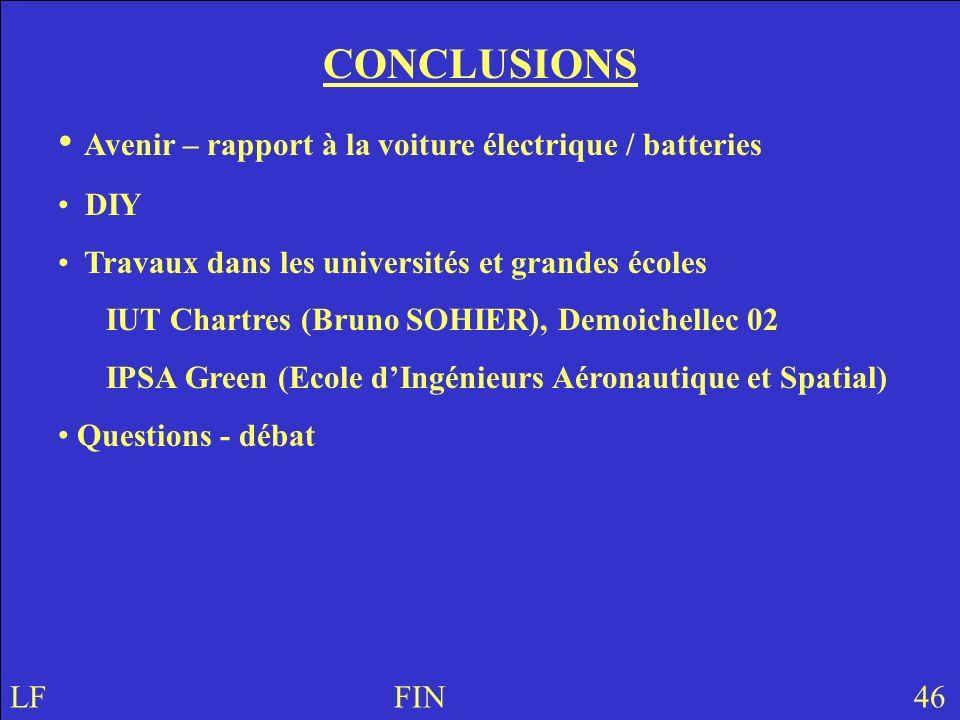 Avenir – rapport à la voiture électrique / batteries