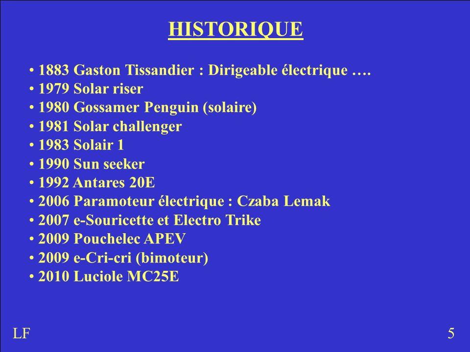 HISTORIQUE 1883 Gaston Tissandier : Dirigeable électrique ….