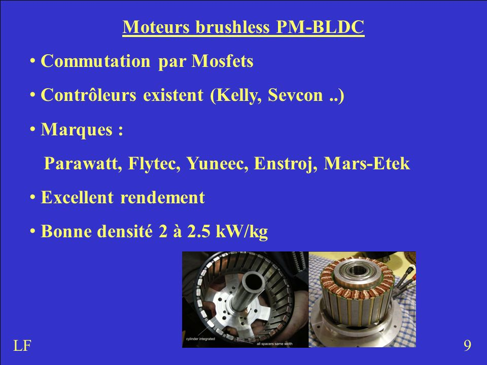 Moteurs brushless PM-BLDC