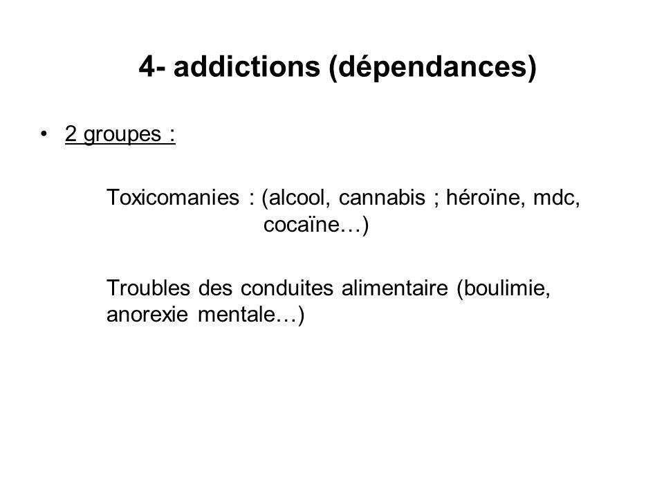 4- addictions (dépendances)