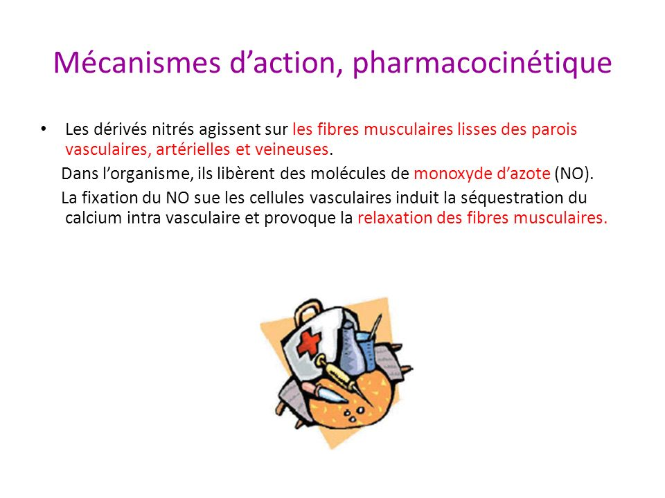 Mécanismes d'action, pharmacocinétique