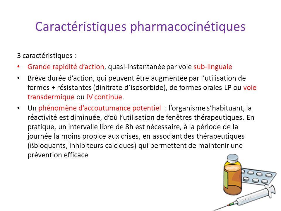 Caractéristiques pharmacocinétiques